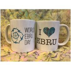 Mug for Tea and Coffee: I Love Ebru + World Ebru Day