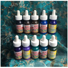 Ebru Artdeco Set - 10 Dark Colors (each 30ml)