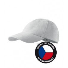 6 panel cotton white cap for kids