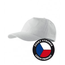 5 panel cotton white cap