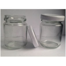 Ebru glass jars with twist lids 60ml