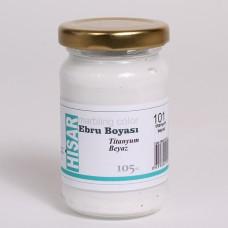 Ebru Pigment Paint Hisar (105 ml) - Titanium White - 101