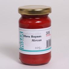 Ebru Pigment Paint Hisar (105 ml) – Coral - 306