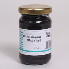 Ebru Pigment Paint Hisar (105 ml) – Oxide Black Color - 701