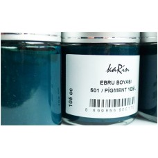 Professional Ebru (Marbling) Paint Karin (105 ml) - Green Color