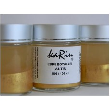 Professional Ebru Paint Karin (105 ml) – Metallic Gold Color